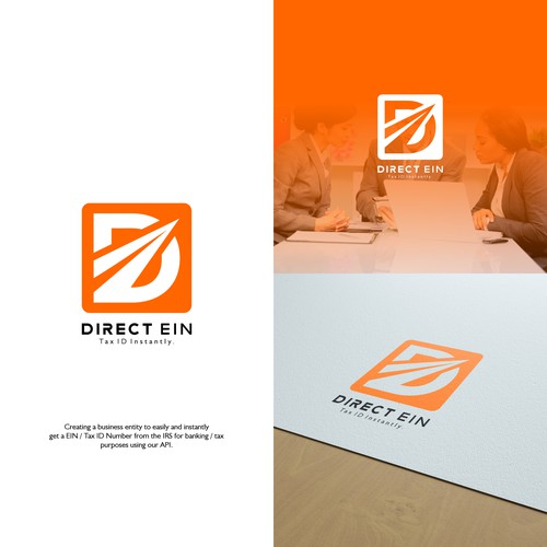 a professional logo for Direct Ein