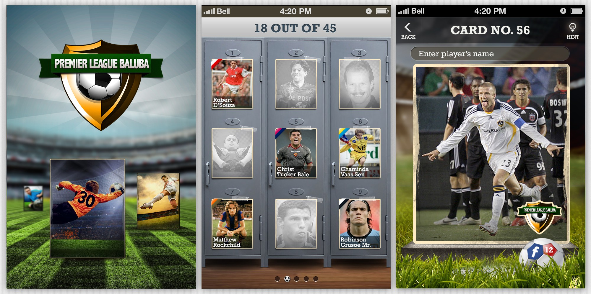 Football (Soccer) Cards Mobile Game