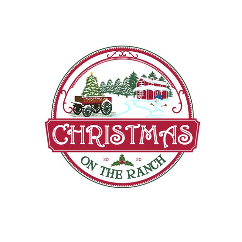 Happy logo for the Christmas on the Ranch