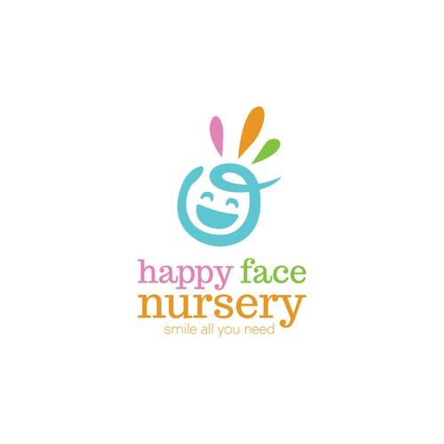 Happy Face Nursery  Logo
