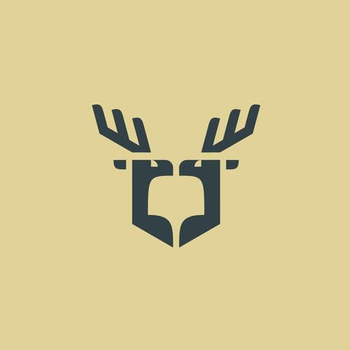 deer logo concept