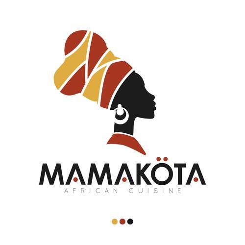 African restaurant logo