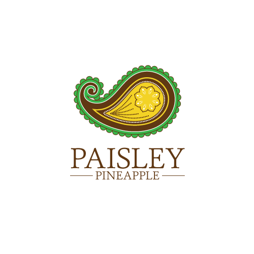 Create a logo for the Paisley Pineapple retail shop that inspires relaxed elegance