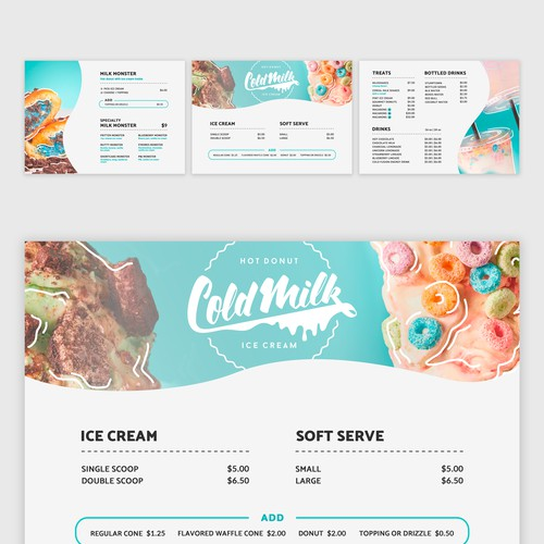 Menu Design | Cold Milk