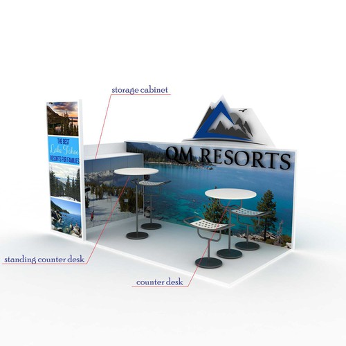 Design a 3D Custom Promotional Booth For QM Resorts