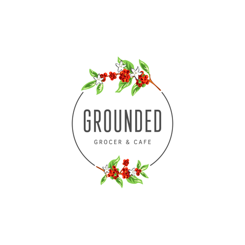 Creative logo design for an up-and-coming cafe & grocer