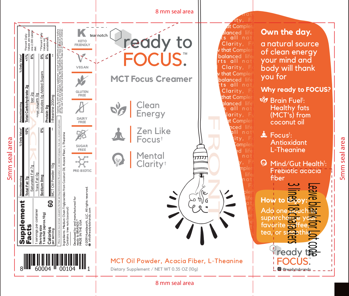ready to FOCUS - Single Serving Design