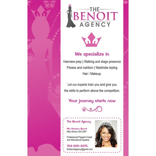 postcard or flyer for The Benoit Agency
