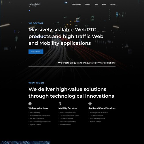 Homepage for an Innovative IT Team