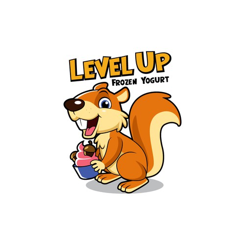 Level Up Frozen Yogurt Animal Mascots