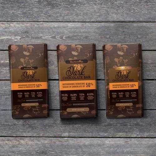 Dark Chocolate Packaging design