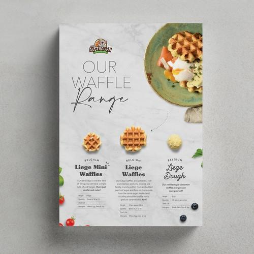 Flyer design for Australian Waffle Company