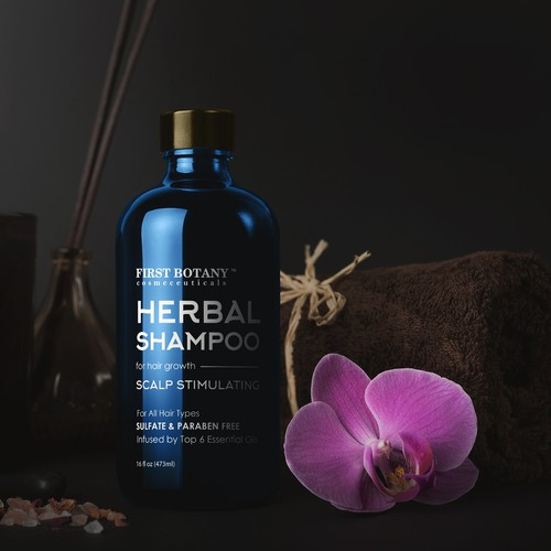 Label design for Herbal Shampoo