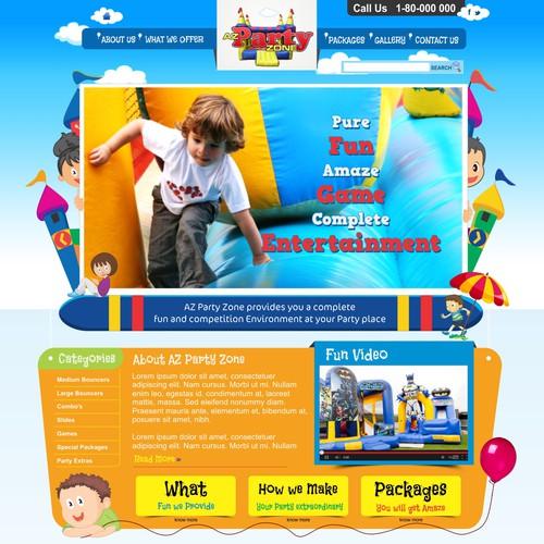 website design for AZ Party Zone