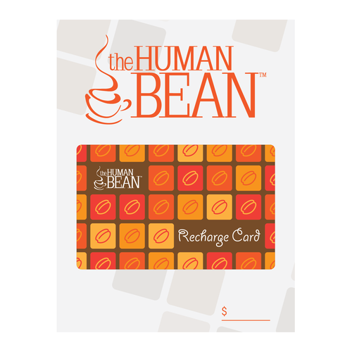 The Human Bean card design