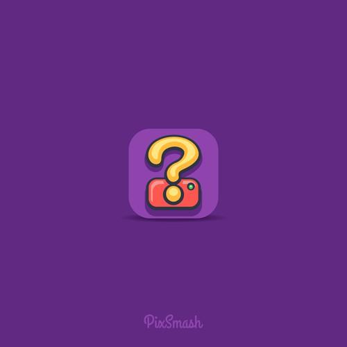 """Icon design for quiz game app """"PixSmash"""""""