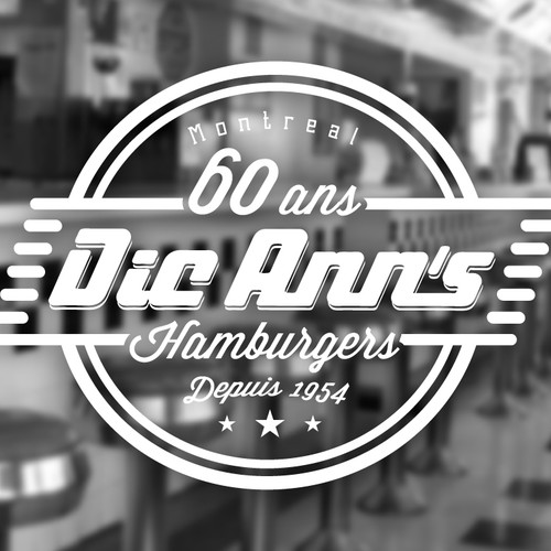 Since 1954 famous montreal restaurant anniversary logo. Will be seen by Millions