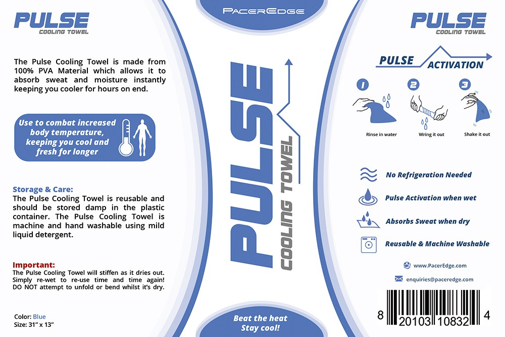 ELEGANT PRODUCT LABEL REQUIRED FOR OUR COOLING TOWEL PRODUCT! GUARANTEED WINNER!