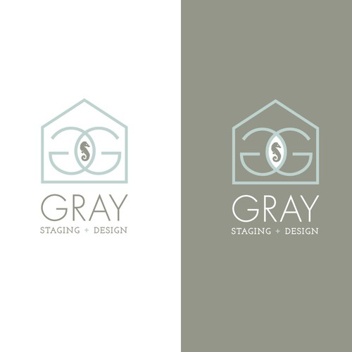sophisticated/cool logo for home staging bizs