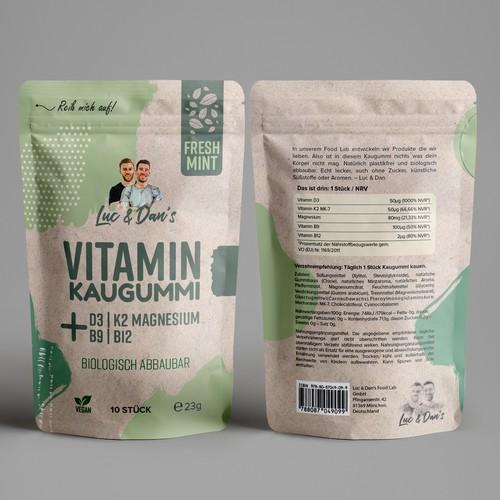 Luc & Dan's Natural Vitamin Gum