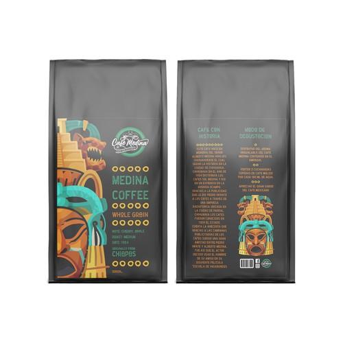 Medina coffee label