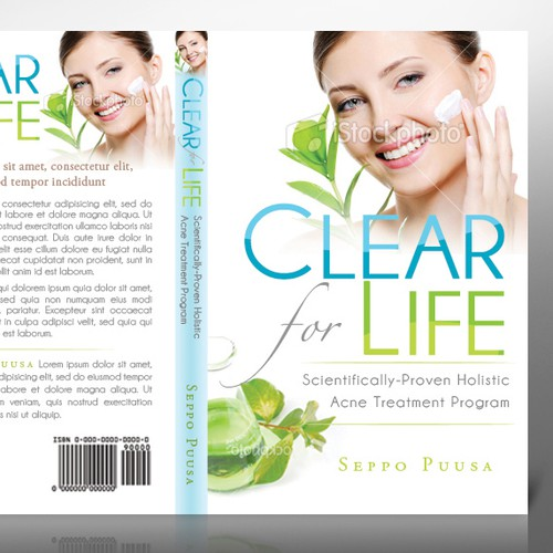 Natural acne treatment book needs cover