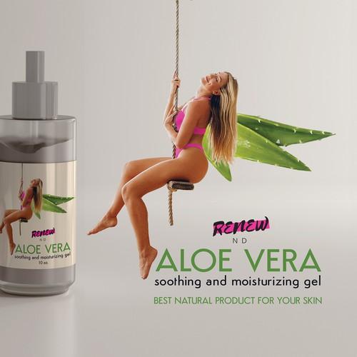 Label design for Aloe vera gel