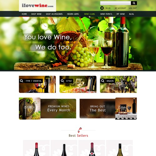 Create a design that will capture the heart of Wine Lovers