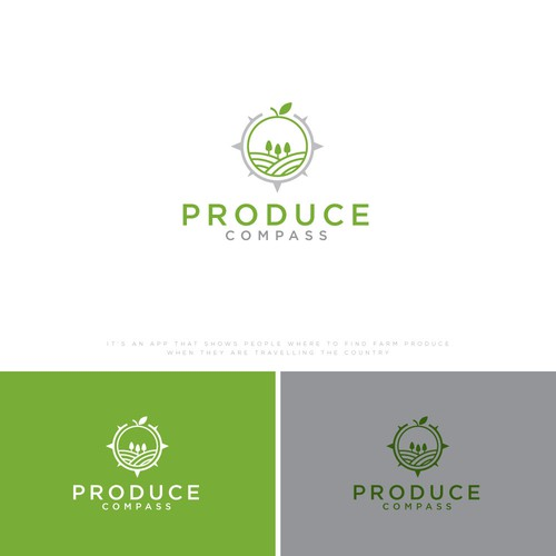 Design a logo for a new app that helps people find fresh produce