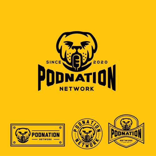 Bold logo for PODNATION