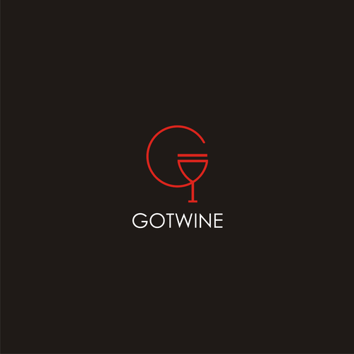 Bold logo concept for wine app