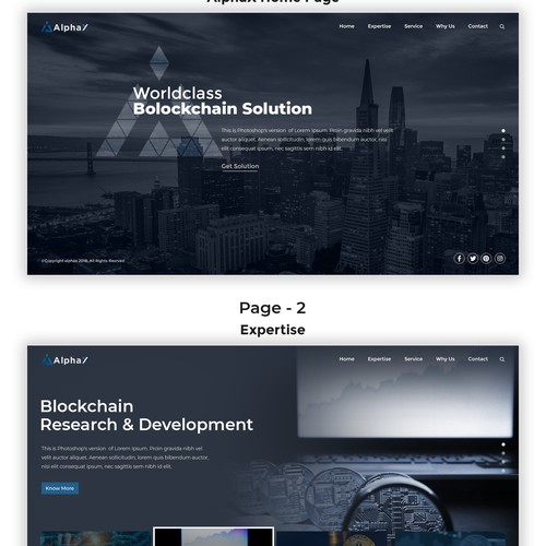 Alpha Blockchain Website
