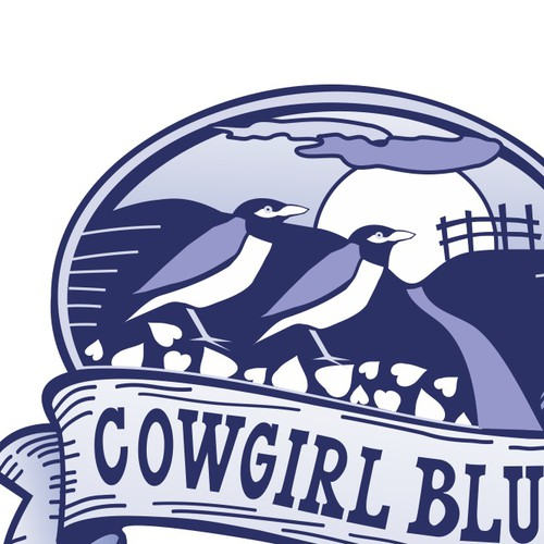 Time to Giddy Up!  Need a logo for Cowgirl Blue :)