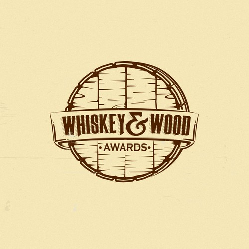 "Logo concept for whiskey awards ""Whiskey&Wood"""