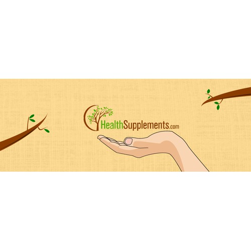 Facebook cover for health supplement facebook page