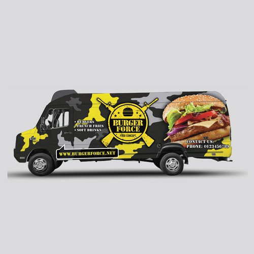 Wraping design for food truck