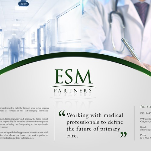 Premium single page website for a high value medical consultancy