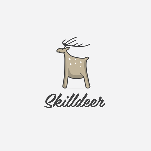 Logo illustration concept Skilldeer
