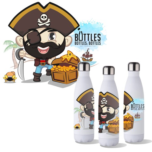 illustration bbbottles pirate