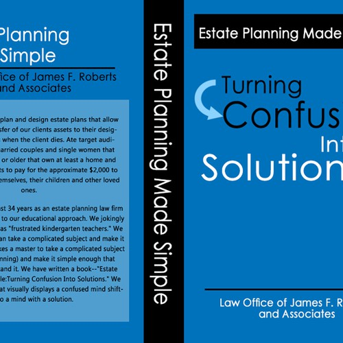 Book cover--Estate Planning Made Simple:Turning Confusion Into Solutions
