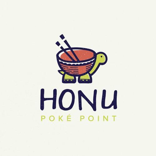 Logo concept for a Poké Bowl Restaurant