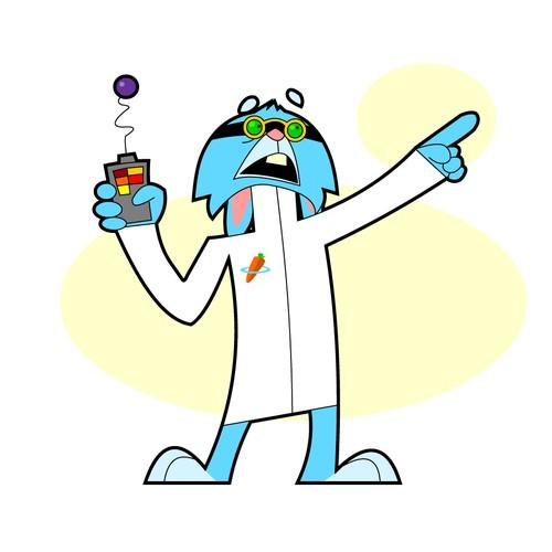 Rabbit Scientist Animation Design