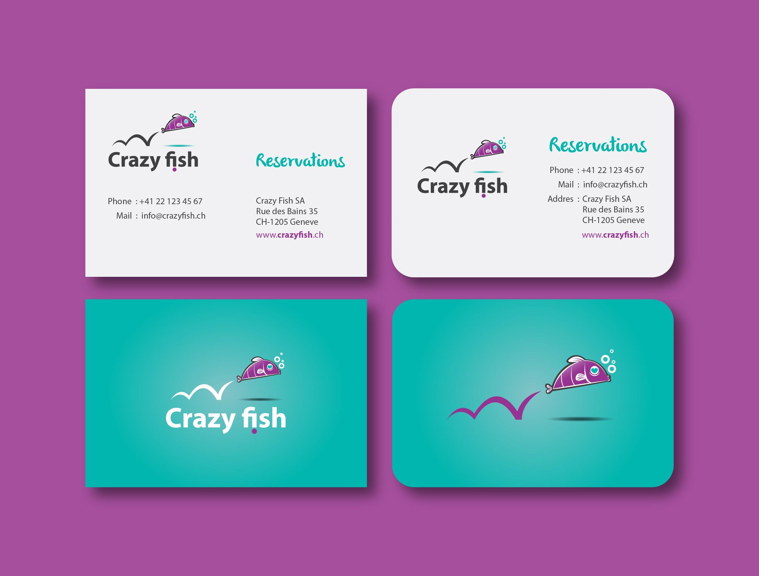 visual identity for Crazy Fish sushi lounge