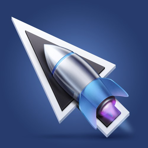 Mouse-rocket icon