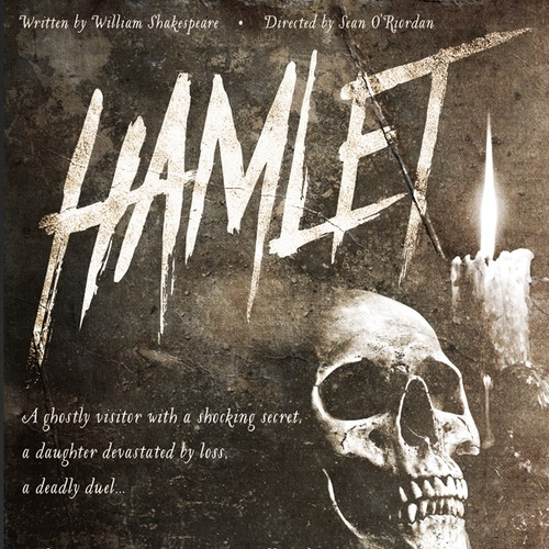 """Poster design for """"Hamlet"""""""