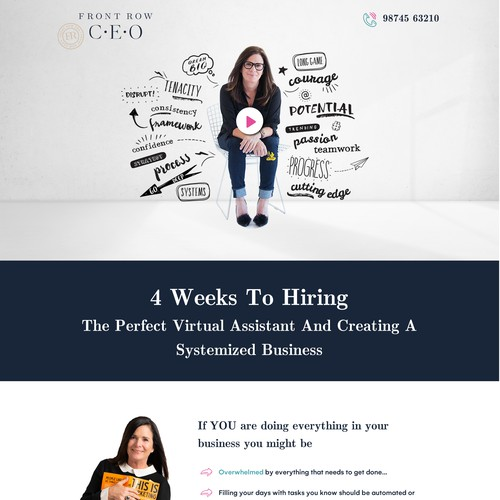Out of the box sales page for digital marketing strategist