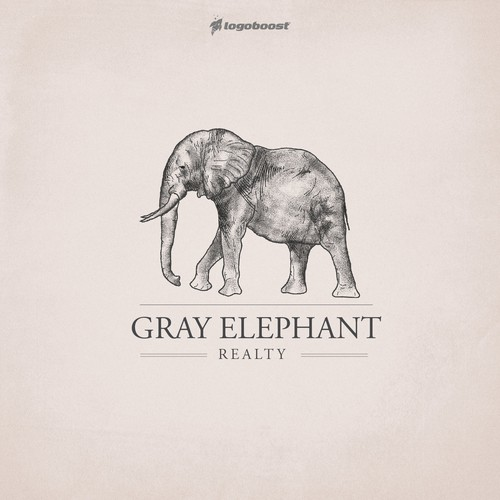 Gray Elephant logo design