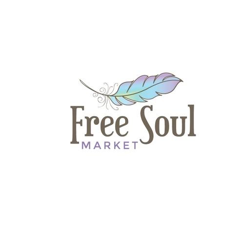 Bold logo for a market
