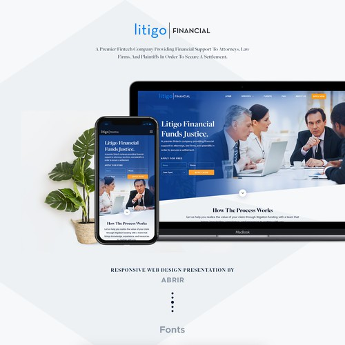 Professional Design For Litigo Financial.