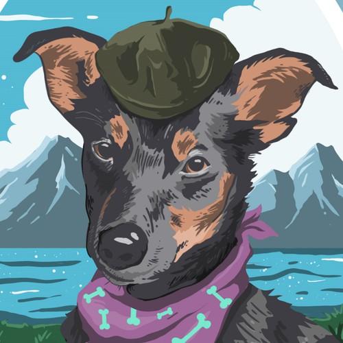 Artist's Pet Poster